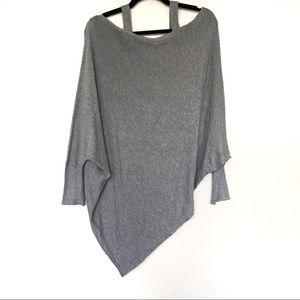 Gray Zara Knit Cold Shoulder Soft Cute Sweater M